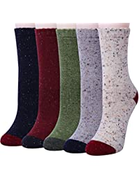 Chalier Calcetines casuales para hombres en lana gruesa en lana de invierno unisex para trabajos 5