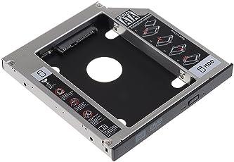 """TRIXES Laptop Slim CD/DVD-Caddy auf interne 2,5"""" SATA HDD Festplatte Laufwerk Bay"""