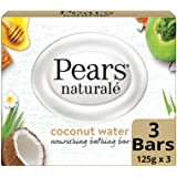 Pears Naturale Coconut Nourishing Soap Bar, 125 g (Pack of 3)