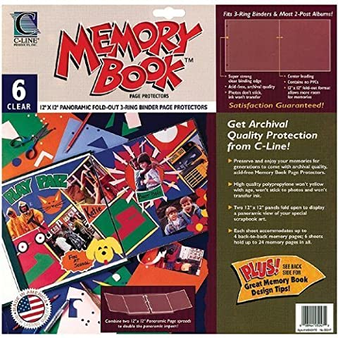 Memory Book Panoramic Fold-Out Page Protectors 12