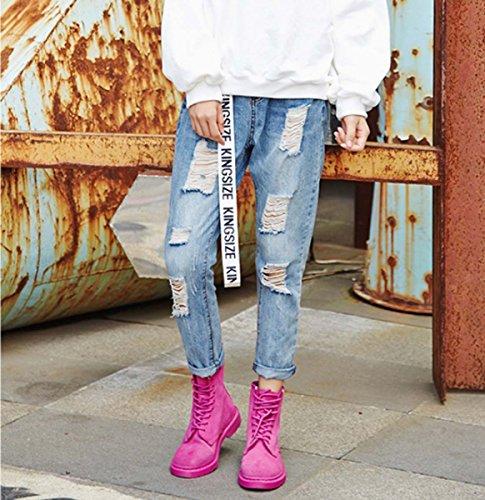 Caricamento Del Sistema Del Deserto Delle Coppie Delle Donne Di Martin Boot Scarpe Da Arrampicata All'aperto Traspirante Impermeabile Traspirante Impermeabile Scarpe Da Trekking In Pelle Pink