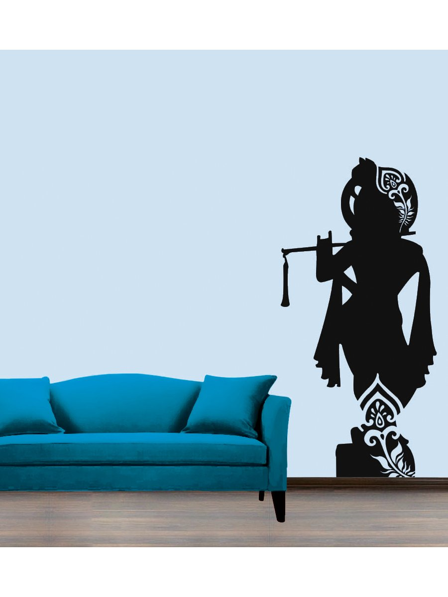 Wall stickers radha krishna - Buy Lord Krishna Wall Sticker Decal Online At Low Prices In India Amazon In