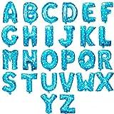 HS 40CM Blau mit weißen Stern Folienballon Buchstaben A Lufterfüllung 91528