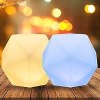 Veilleuse de Bébé, CNSUNWAY Veilleuse Enfant,10 Couleur Réglables Lampe de Chevet,Rechargeable par USB et Lampe d…