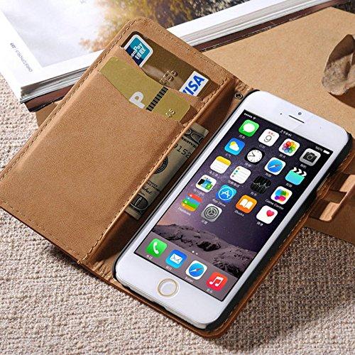 aridox (TM) doux Support pour livre en cuir pour iPhone 6Plus/6S Plus 14cm Téléphone Sac Étui à rabat avec porte-cartes pour iPhone 6S Plus