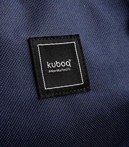 Kuboq colourblock zaino Green Camouflage 600D Polyester Dark Blue/Red