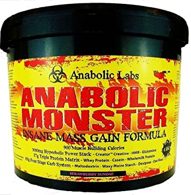 4kg Anabolic Monster Mass Gain Protein Powder Shake with Glutamine, Creatine, HMB + FREE SHAKER from Anabolic Labs