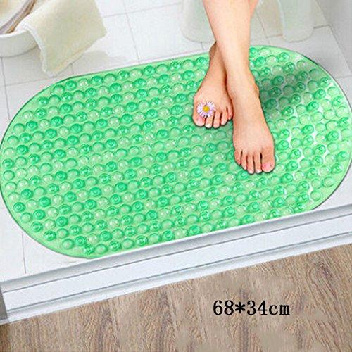 LYJ Tapis de bain Tapis De Bain / Environnement Non Slip Suction Bath Mat / Douche Toilette Tapis De Sol Séchage rapide ( Couleur : Vert )