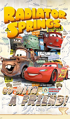 Komar - Disney -Vlies Fototapete CARS OPEN ROAD - 120 x 200 cm - Tapete, Wand Dekoration, Lightning McQueen, Auto - VD-041