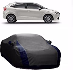 MotRoX Lively Water Resistant Car Body Cover for Maruti Suzuki Baleno (Grey & Blue - V Shape)