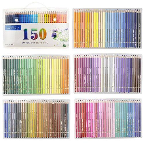 150Stück Aquarell Bleistifte mit, der Fall für Färben Skizzieren Gemälde