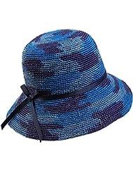 Mujeres de Placer Dome Tai Mo plana plegable toldos Butterfly Beach bronceador sombreros de sol, azul