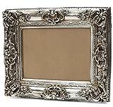 Starline Barock Bilderrahmen Silber 60x70/ 40x50 cm (Antik) Im Retro Vintage Look. In Handarbeit hergestellt für Künstler, Maler. Idealer Gemälde-Rahmen für Ausstellungen Star-LINE®