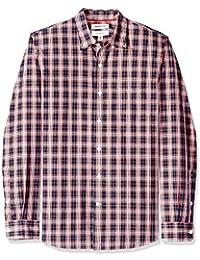 Goodthreads Camisa de Popelín y Estampado Tartán de Manga Larga Slim Fit Hombre