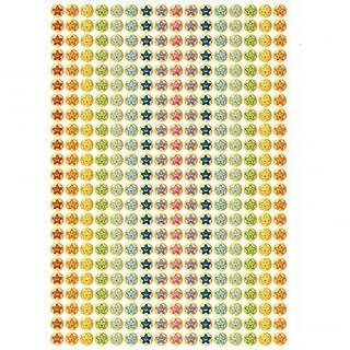 736 Mini-Smiley-Aufkleber mit mehreren Sternchen (10mm Sticker)