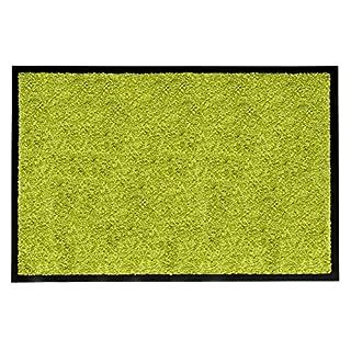 andiamo Schmutzfangmatte Fußabtreter Türmatte Fußmatte Sauberlaufmatte Schmutzabstreifer Türvorleger – Eingangsbereich In/Outdoor – rutschhemmend waschbar grün Polypropylen– 80x120 cm – 5 mm Höhe
