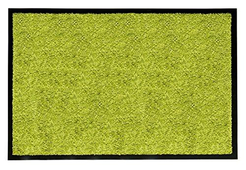 andiamo Schmutzfangmatte Fußabtreter Türmatte Fußmatte Sauberlaufmatte Schmutzabstreifer Türvorleger - Eingangsbereich In/Outdoor - rutschhemmend waschbar grün Polypropylen- 80x120 cm - 5 mm Höhe