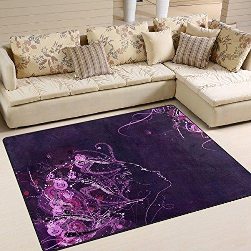 Moderner lila 3D, ein Wohnzimmer Teppiche Teppich Schlafzimmer Teppich für Kinder Play massiv Home Decorator Boden Teppich und Teppiche 160x 121,9cm, multi, 63 x 48 Inch ()