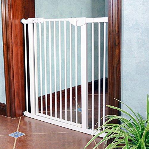 Indoor Safety Gates Extra Breit Pet Gates für Treppen Türdurchgangs Innenbereich, Druck Montiert, Baby/Hunde/Katzen Tür 71–180cm Breit Weiß Metall, Metall, 139-145cm (Pet-tür-wand-kit)