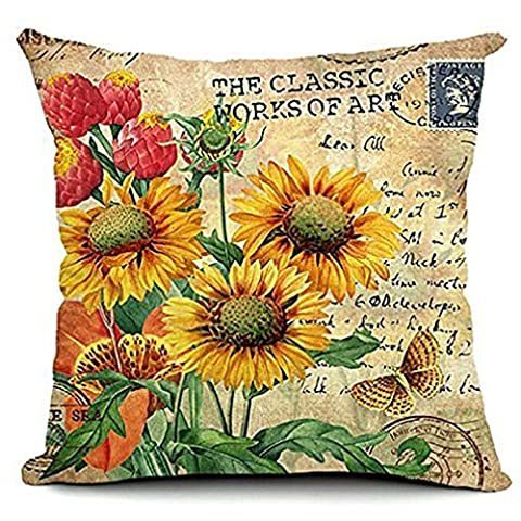 Taie d'oreiller, Kingwo Tournesol Hibou Halloween Pillow Cases Canapé Taille