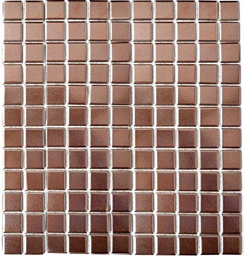 k kupfer für BODEN WAND BAD WC DUSCHE KÜCHE FLIESENSPIEGEL THEKENVERKLEIDUNG BADEWANNENVERKLEIDUNG Mosaikmatte Mosaikplatte 1 Matte ()