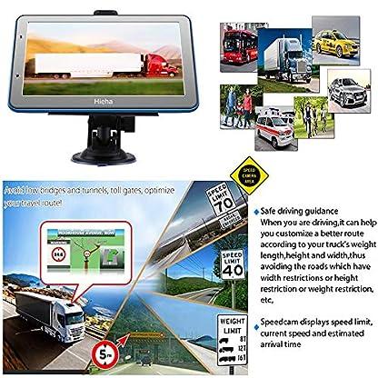HiEHA-7-Zoll-Navi-Navigation-GPS-Navigationsgert-fr-LKW-PKW-Bluetooth-Europe-Traffic-Android-16GB-512MB-Blitzerwarnungen-POI-Fahrspur-und-Parkassistent-2018-lebenslang-kostenlose-Karte-Updates