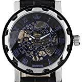 2017top di lusso di marca Sewor scheletro carica manuale uomo orologio meccanico in pelle mens orologio Relogio Erkek Kol Saati Cemavin esclusiva