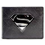 DC Comics Superman Badge Symbole Noir Portefeuille
