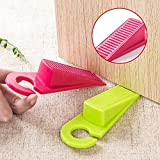 #10: Zollyss 2PCS Hanging Rubber Door Stopper with Hook Wedge Safety Protector Stopper Block Door Stoppers for Home Office Room