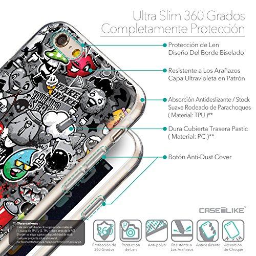 CASEiLIKE Wandschmierereien 2703 Ultra Slim Back Hart Plastik Stoßstange Hülle Cover for Apple iPhone 6 / 6S (4.7 inch) +Folie Displayschutzfolie +Eingabestift Touchstift (Zufällige Farbe) 2709