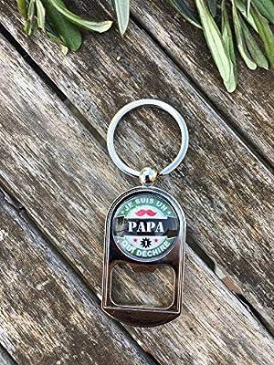 """Porte-Clef Décapsuleur""""Je suis un Papa qui déchire"""" Idéal pour faire un cadeau Idéal pour faire un cadeau original"""