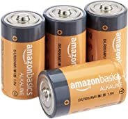 AmazonBasics D Cell Everyday Alkaline Batteries (4-Pack)