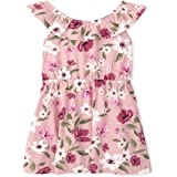 The Children's Place girls Floral Ruffle Dress Casual Dress