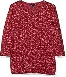 TOM TAILOR Damen Bluse Lovely Blouse Shirt, Rot (Frozen Berry Sorbet 5682), 38 (Herstellergröße: M)