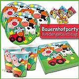 yokki.de - Bauernhof Bauernhof - Kindergeburtstag Party Paket Teller, Becher, Servietten