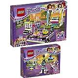 Lego Friends Freizeitpark 2er Set 41128 41133 Raketen-Karussell + Autoscooter im Freizeitpark