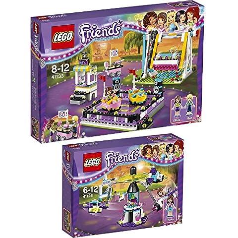 Lego Friends Set en 2 parties 41128 41133 Le Manège Volant Du Parc D