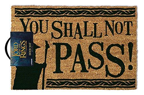 empireposter Herr der Ringe - You Shall Not Pass - Kokosfaser Fußmatte - Größe 60x40 cm