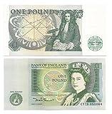 UK GB £ 1 britannico Una libbra banconota croccante 1981-1983 Capo Cassiere Somerset / UNC