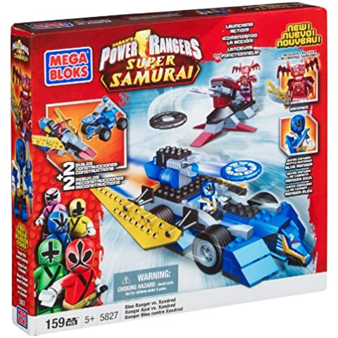 Mega Bloks 5827  Power Rangers Super Samurai, Color Azul