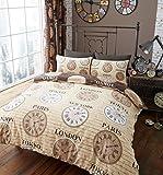 Modernes Bettwäsche-Set, für Einzel-, Doppel- und King-Size-Betten, braun, King Size
