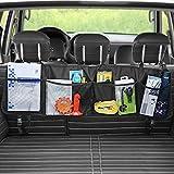 yblntek Kofferraum Organizer, Multi Taschen Netzstoff-Halterung Aufbewahrungstasche Wasserdicht Oxford Tuch für Truck, SUV, VAN, Cargo mit verstellbaren Trägern - Schwarz