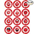 Cakeshop 12 x PRE-CUT Comic Relief 'Red Nose Day' Noses Edible Cake Toppers - Premium Wafer Paper