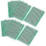 WINGONEER 10PCS (5 x 7cm) Placa de circuito impreso Placa de circuito universal de doble cara para placas de paneles para soldadura de bricolaje