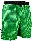 GUGGEN Mountain Herren Badeshorts Beachshorts Boardshorts Badehose Schwimmhose Männer kariert Farbe Gruen XL