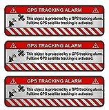 Finest-Folia 9X GPS Aufkleber Fahrrad Motorrad Auto Alarm Warnung Anti Diebstahl Sticker Tracker gesichert (Aluminium Schliff Silber, Object)