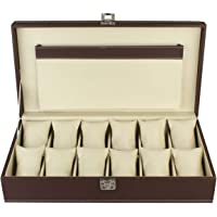 PANKATI Watch Storage Boxes with Pocket Space/Watch Organizer Box (12 Slots) (Ideal for Diwali Gifting)