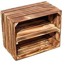 flameadas masiva Caja de fruta 49 x 42 x 31cm / Caja de manzana / Caja de vino aus dem Alten Land - Estante