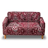 HOTNIU 1 Stück Stretch Sofa Couch Bezüge - Spandex Printed Loveseat Couch Schonbezug - Sessel Sesselbezug/Protector One Free Kissenbezug (2 Sitzer 135-170cm, Gemustert #4)