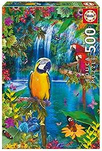 Educa Borrás-500 Paraíso Tropical Dibujos Animados y Cómic Puzzle de 500 Piezas, Multicolor (29-15512)